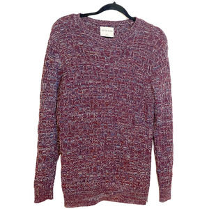On the Byas Maroon Chunky Knit Oversized Sweater